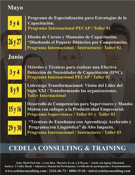 Impacto Training Calendario.Seminarios Abiertos Cr 2015 Cedela Consulting